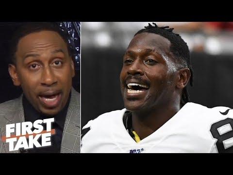 Antonio Brown's 'clownish' behavior rallied the Raiders vs. the Broncos - Stephen A.   First Take