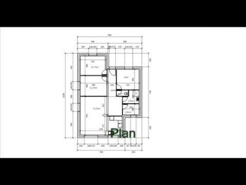 Plan De Maison Plain Pied 3 Chambres Traditionnelle Youtube