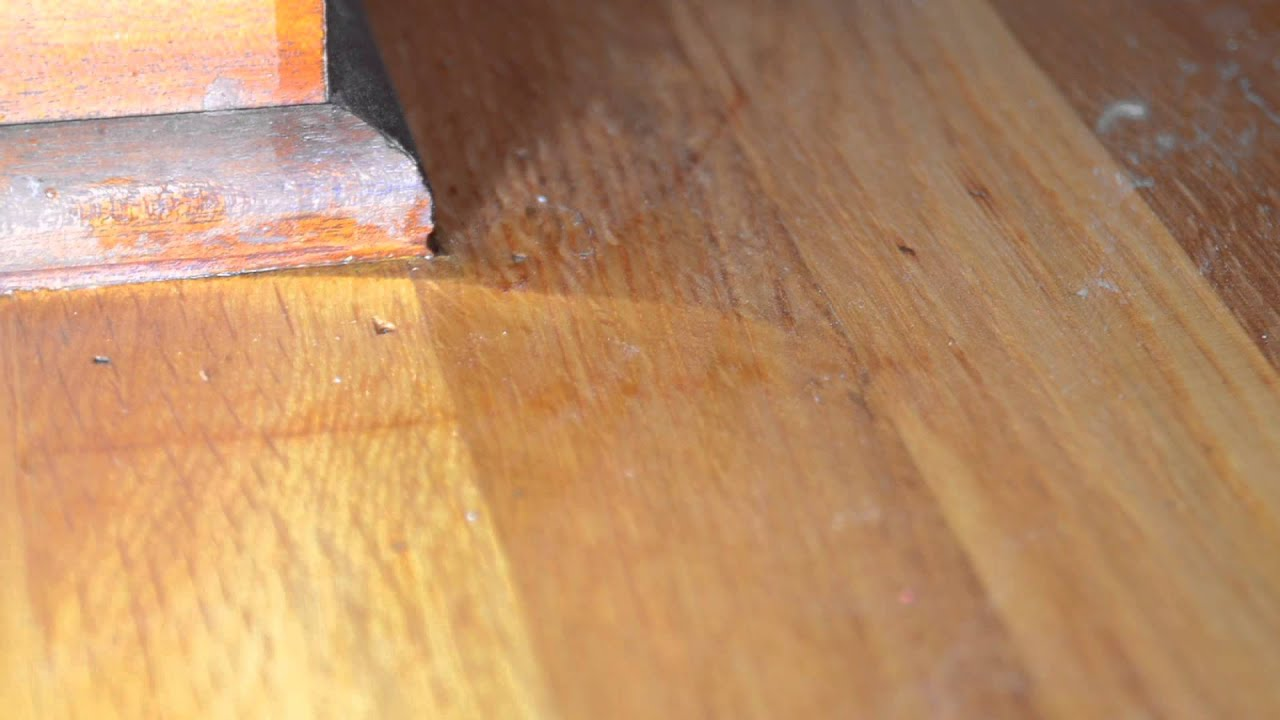 Wood floor finish from bad contractor youtube solutioingenieria Gallery