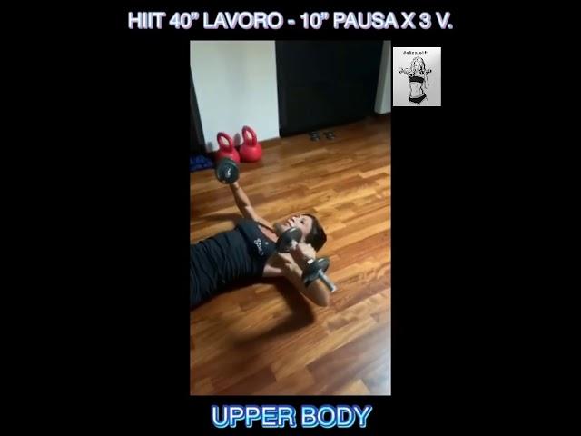 """CIRCUITO HIIT 40"""" LAVORO-10"""" PAUSA X 3 VOLTE #49"""