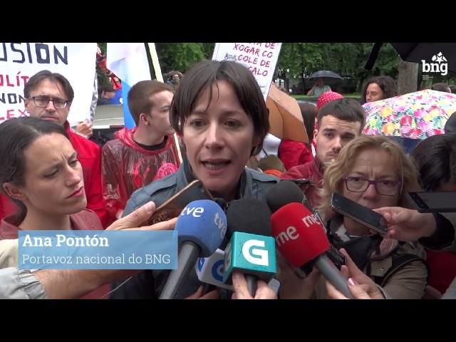 """Ana Pontón:  """"O peche de colexios do PP é unha puñalada ao ensino público galego"""""""