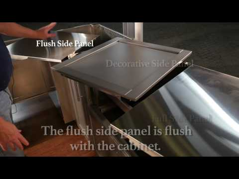 Danver Cabinet Assembly: Stainless Steel Side Panels DIY