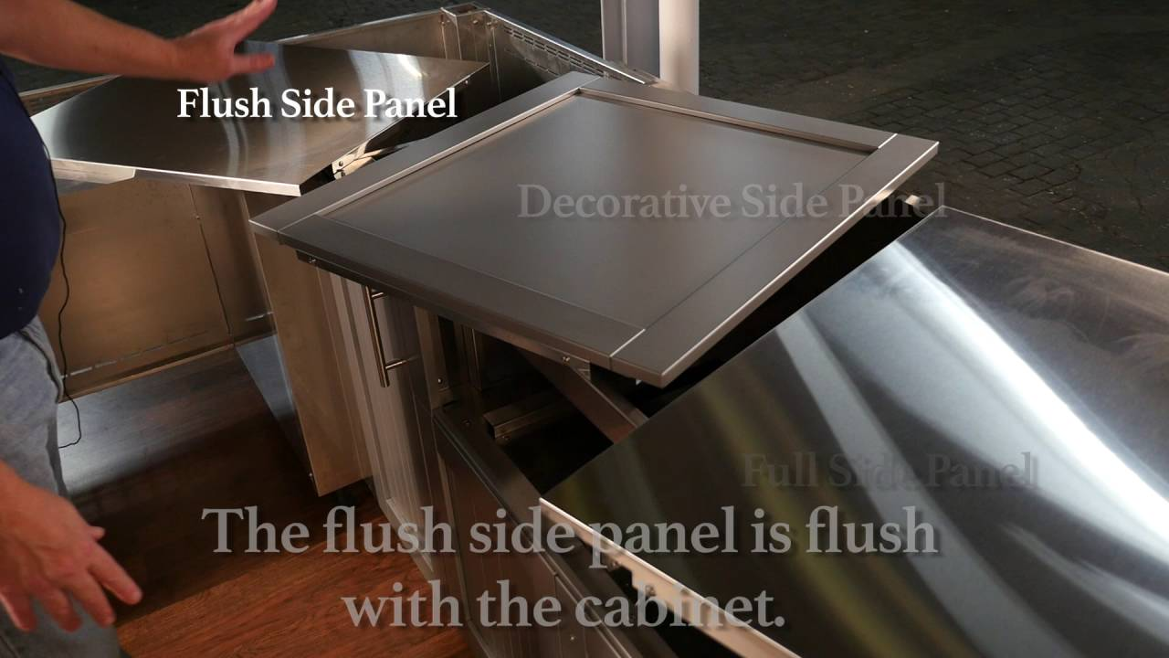 Danver Cabinet Embly Stainless Steel Side Panels Diy
