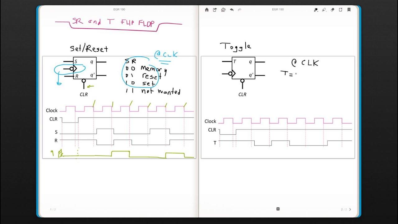medium resolution of sr and t flip flops egr 190 digital circuits week 10 3