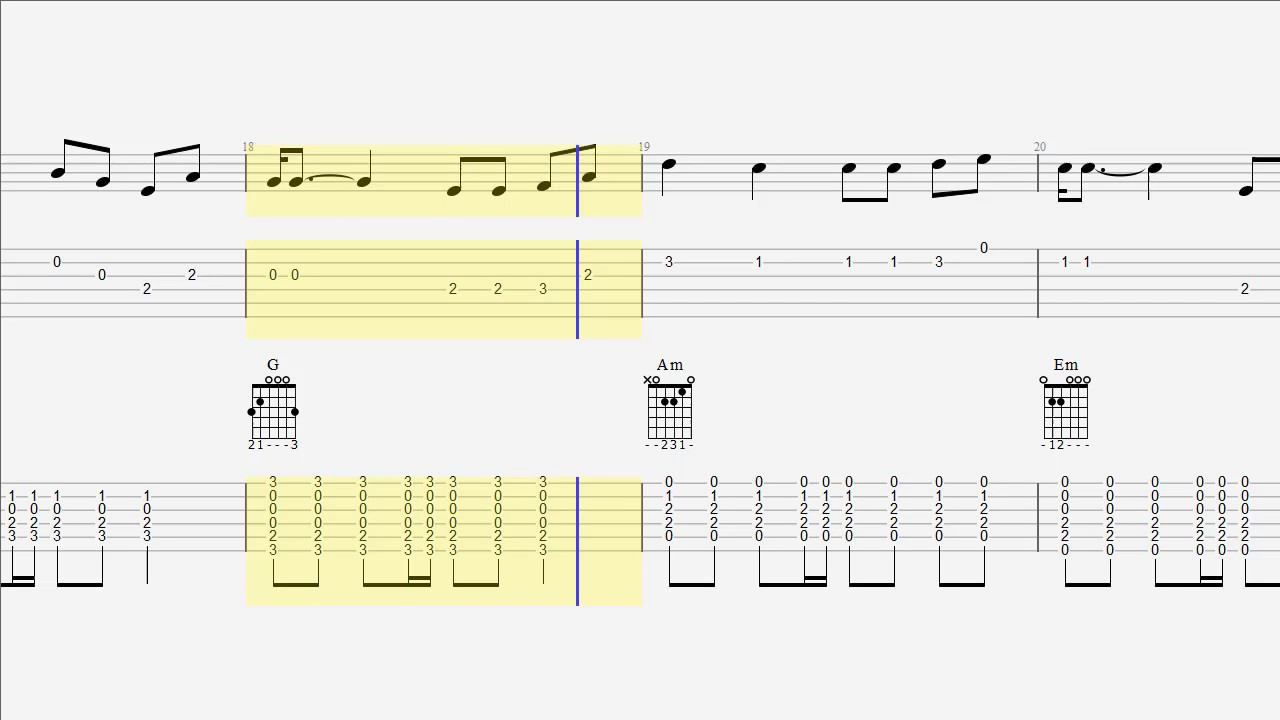 Guitar Tab Chords The Weeknd I Feel It Coming Guitar Duet