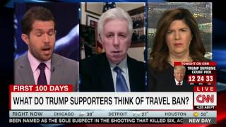 Jeffrey Lord caught in lie that the immigration ban is not a Muslim ban