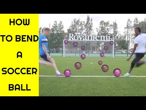 How to bend a soccer ball | Free kick tutorial | Curve ball tutorial