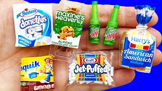 15 DIY MINIATURE FOOD AND DRINKS REALISTIC HACKS AND DIY CRAFTS COLLECTION !!!