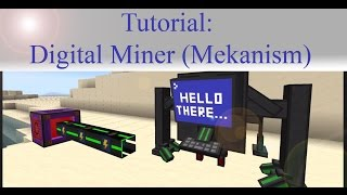 Minecraft Tutorial: Mekanism Digital Miner (Fast & Easy Tutorial) [English]