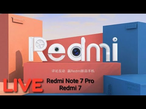Redmi 7 Live Launch Event in China
