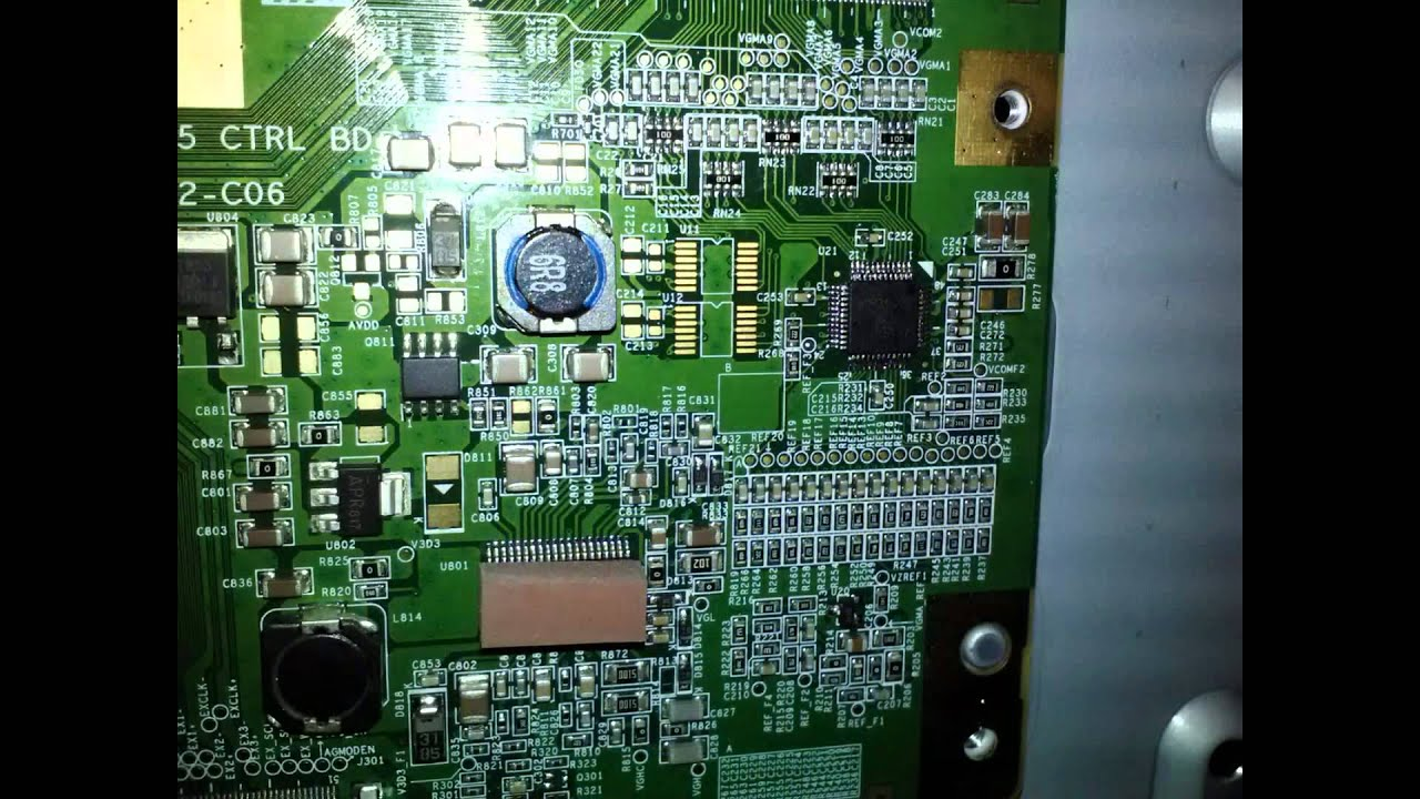How To Repair T-con Circuit On Sony Lcd Tv Kdl-40sl140 Solarization
