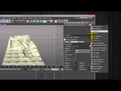 Mapping DEM Data in Cinema 4D
