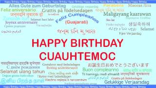 Cuauhtemoc   Languages Idiomas - Happy Birthday