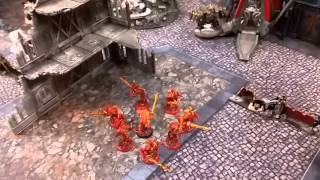 Warhammer 40K Battle Report 02: Dark Angels and Daemonkin vs. Space Wolves and White Scars