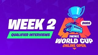 Fortnite World Cup - Week 2 Qualifier Interviews
