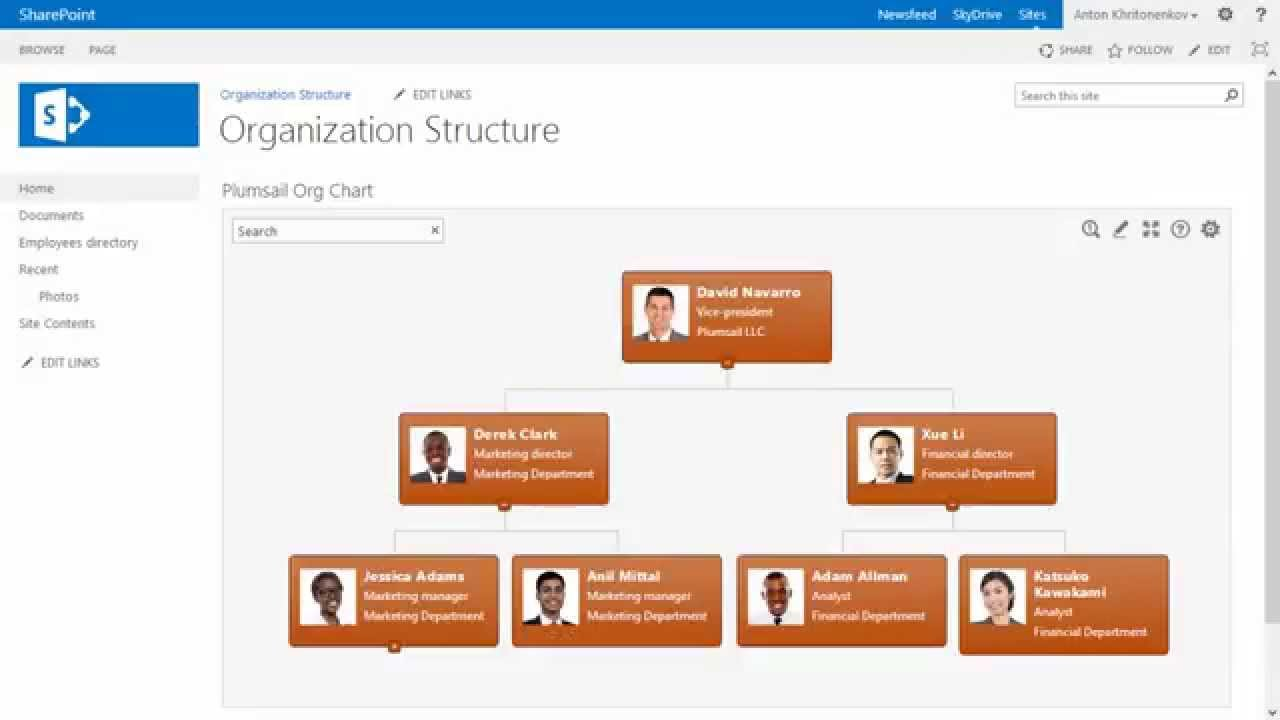 Plumsail org chart for sharepoint 2010 2013 youtube