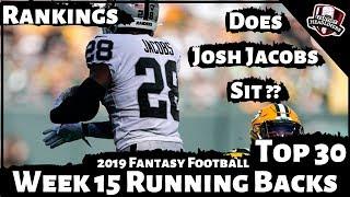 2019 Fantasy Football Rankings - Week 15 Running Back Rankings