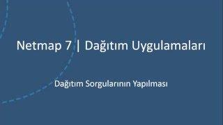 Netmap 7 Proje Uygulamaları - Dagitim Sorgularinin Yapilmasi