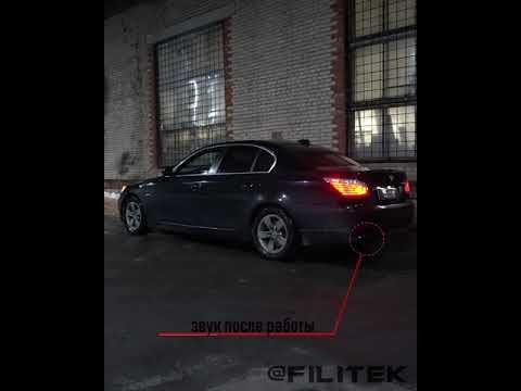 Спортивный глушитель на BMW 525i E60
