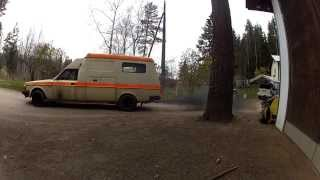 Volvo ambulance D24 smoke 2