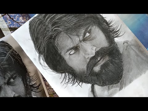Drawing Yash ! | KGF | Realistic pencil sketch