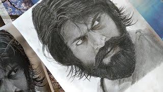 Drawing Yash ! | KGF | Realistic pencil sketch