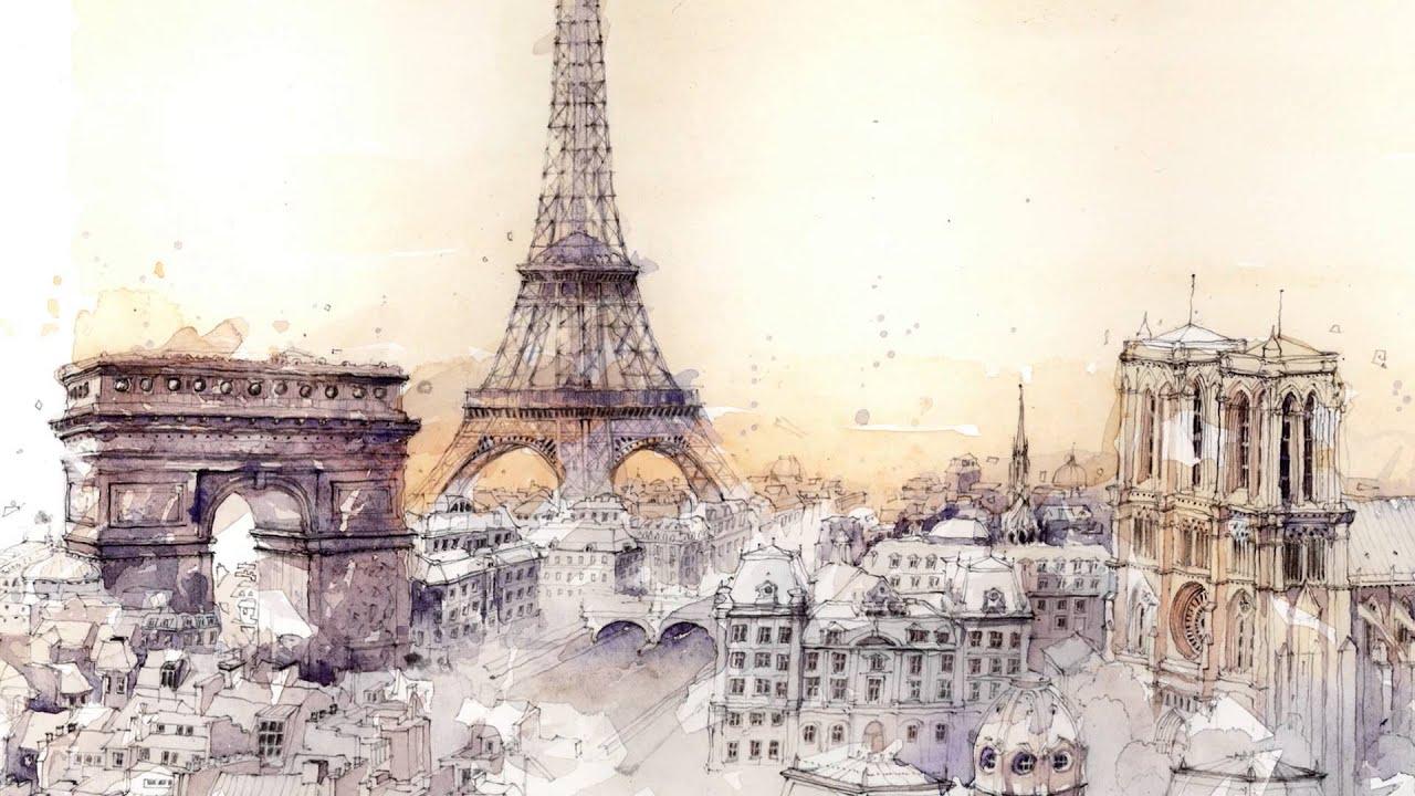Super Making of Paris, London, New York - Aquarelle Watercolors - YouTube MF13