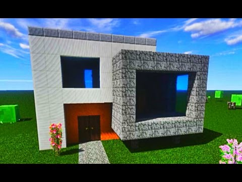 minecraft tutorial wie baue ich ein modernes haus 002. Black Bedroom Furniture Sets. Home Design Ideas