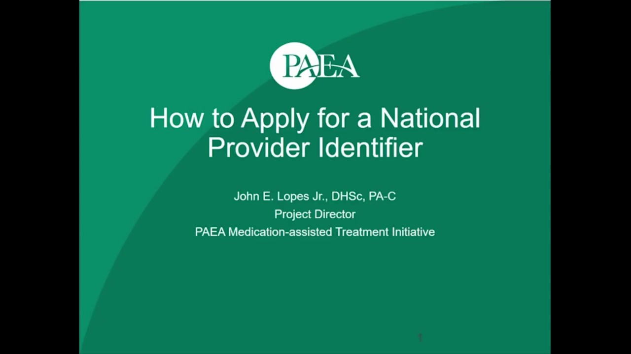 find a national provider identifier