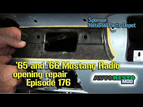 Ford Mustang 1965 1966 Radio Opening Dash Plate Repair Episode 176 Autorestomod