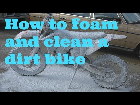 How to properly foam and clean a dirt bike