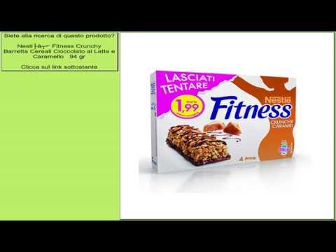 Nestlé Fitness Crunchy Barretta Cereali Cioccolato al Latte e Caramello   94 gr