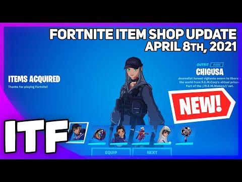 Fortnite Item Shop *NEW* ANIME LEGENDS BUNDLE + POKI! [April 8th, 2021] (Fortnite Battle Royale)
