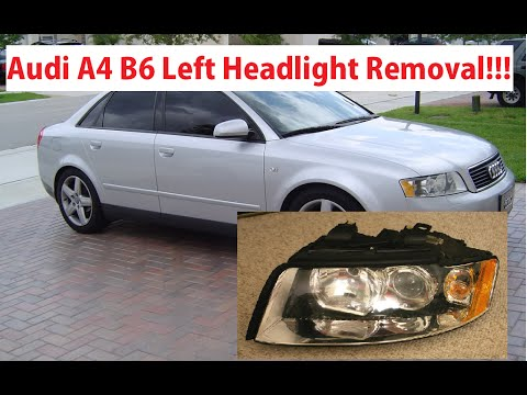 Audi A B Driver Side Left Headlight Removal In Minute Audi A - 2006 audi a4 headlights