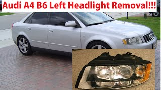 Audi A4 b6 Driver Side Left Headlight Removal in 1 Minute! Audi A4 B6 2000-2006 Healight Replacement