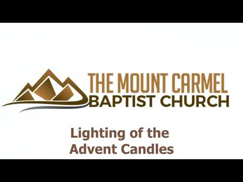Lighting of Advent Candles- 12/10/2017 - MCBC