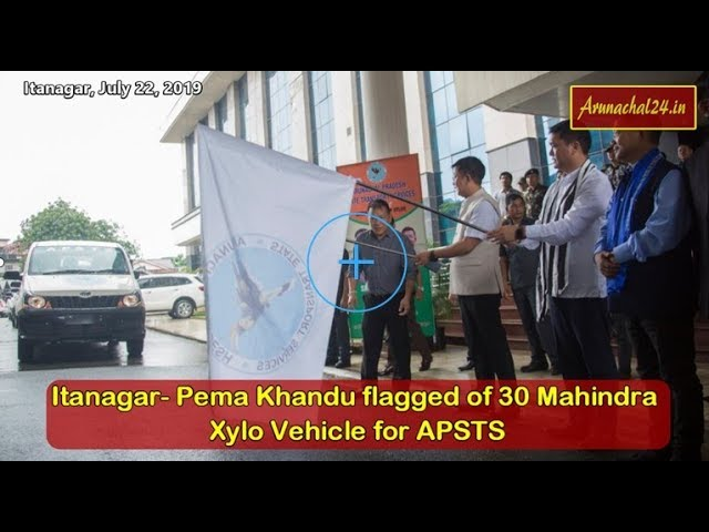 Itanagar-  Pema Khandu flagged of 30 Mahindra Xylo Vehicle for APSTS