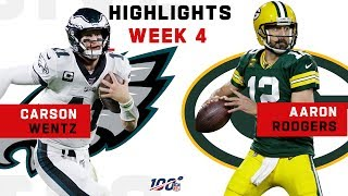 Carson Wentz vs. Aaron Rodgers EPIC Clash | NFL 2019 Highlights
