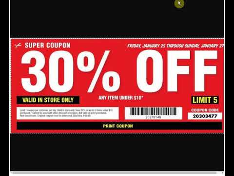 Harbor Freight 25 Coupon Printable
