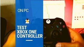 Como probar control de xbox one en la PC conectado por USB sin consola