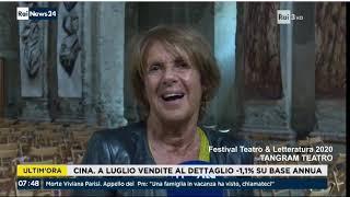 TG3  RAINEWS   La  Vedova Socrate con Lella Costa al Forte di Fenestrelle per Festival Tangram