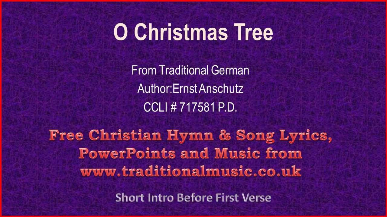 O Christmas Tree[O Tannenbaum](corrected) - Christmas Carols Lyrics ...