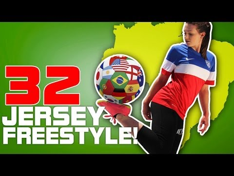 Indi Cowie World Cup Freestyle   Juggling In All 32 Jerseys!