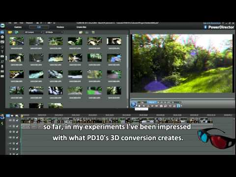 PowerDirector 10 Tutorial - How to Convert 2D videos and photos into 3D