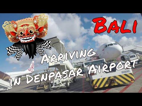 Arriving in Denpasar Airport, Bali Indonesia