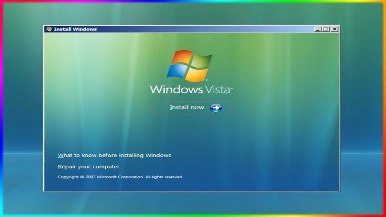 Cài và trải nghiệm Win Vista thảm họa 1 thời của Microsoft