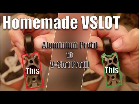 Transformer des profilés Aluminium standards en V-Slot