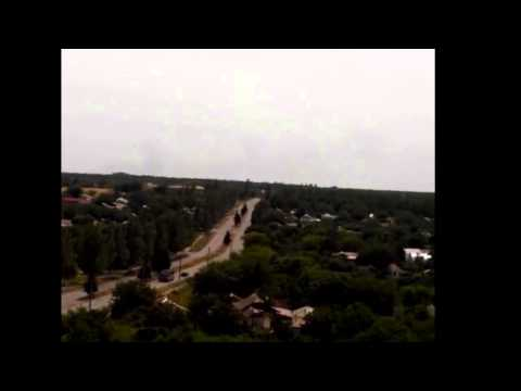 "AA ""BUK"" vehicle Pro-Kremlin fighters going from Torez to Snizhne"