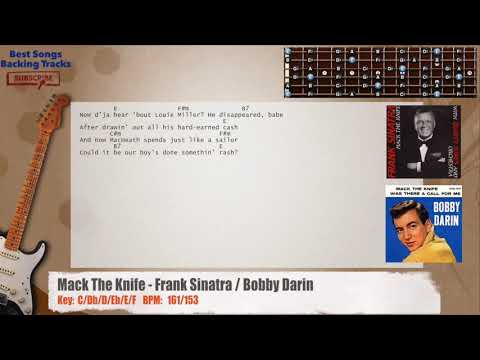 Mack The Knife - Frank Sinatra / Bobby Darin  Guitar Backing Track with chords and lyrics