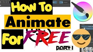 How To Animate in Krita for Beginners - FREE ANIMATION SOFTWARE | In HINDI | PART 1|